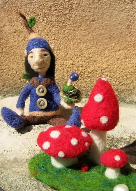 Green Dot Creations: The Forest Man: Fiber sculpted fairy art doll! | Needle felting art by Green Dot Creations' Studio! | Scoop.it