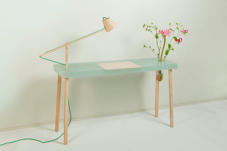 Writing Table by Studio Roel Huisman - Design Milk | Home, cool home | Scoop.it