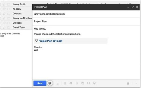New Handy Chrome Extension for Sending Dropbox Files in Gmail ~ Educational Technology and Mobile Learning | eLearning | Scoop.it