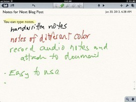 The 21st Century Principal: Notability: Simple and Easy Way to Take Handwritten Notes on the iPad | Edtech PK-12 | Scoop.it