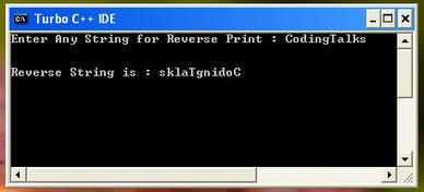 C Program to Reverse the String Without using Strrev Function - CodingTalks | CodingTalks | Scoop.it