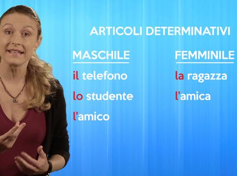 Grammavideo - episodio 2   Imparare l'italiano   Scoop.it