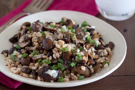 Mushroom, Farro and Fontina Salad | À Catanada na Cozinha Magazine | Scoop.it