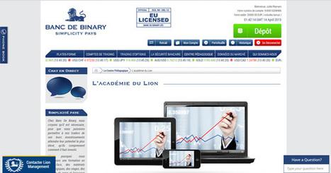 L'Académie du Lion forme les  traders Banc de Binary   Bourse   Scoop.it