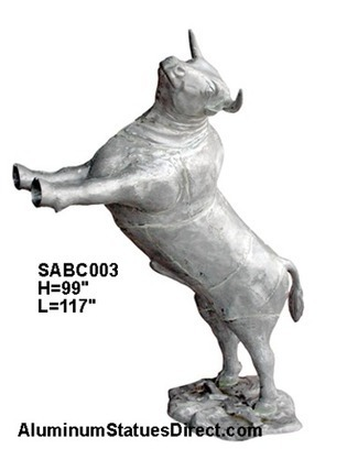 Cow and Bull Garden Statues | Aluminum Statues | Scoop.it