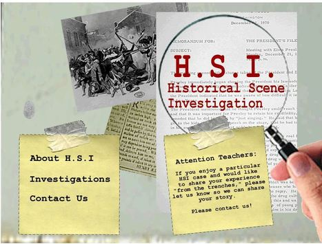 HSI: Historical Scene Investigation | K-12 Research, Resources and Professional Learning Materials for English Language Arts | Scoop.it