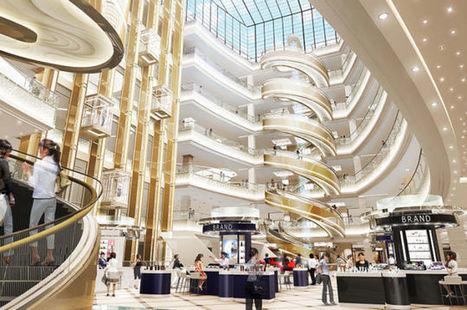 The World's Largest Spiral Escalator Just Opened In Shanghai | Strange days indeed... | Scoop.it