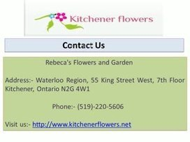 Flower Home Delivery in kitchener | Rebeca's Flowers and Garden | Scoop.it