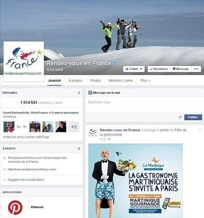 Réseaux sociaux : le nombre de fans de la destination France a ... - TourMaG.com   Marketing digital   Scoop.it