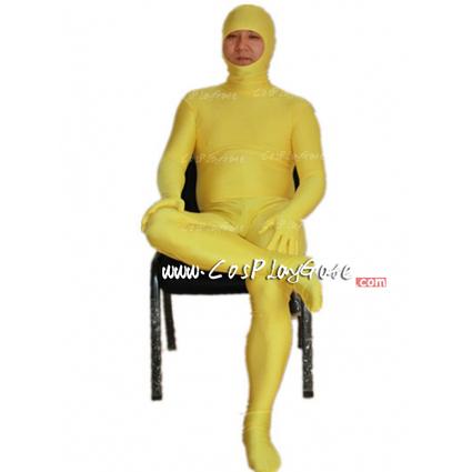 Yellow Open Face Lycra Spandex Zentai Suits   zentai,zentai suit,zentai suit wholesale   Scoop.it