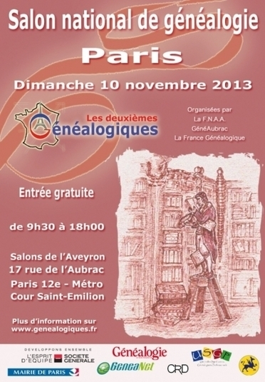2e édition des Généalogiques, salon national de généalogie à Paris | Histoire Familiale | Scoop.it