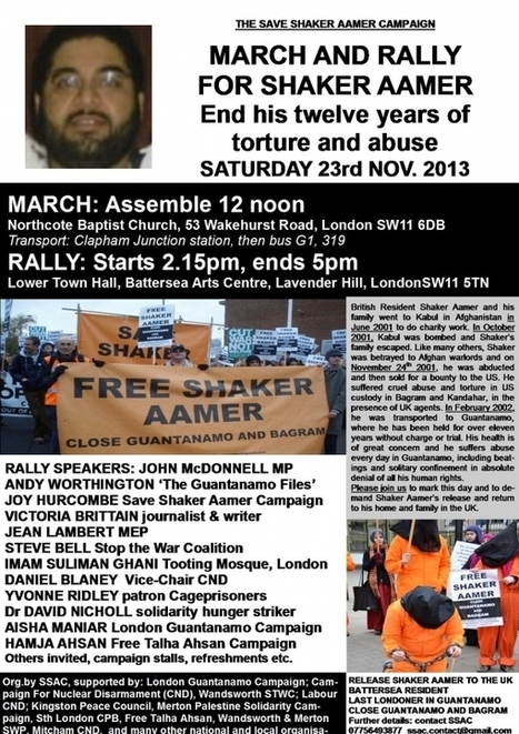 Cageprisoners : March and rally for Shaker Aamer | SocialAction2014 | Scoop.it