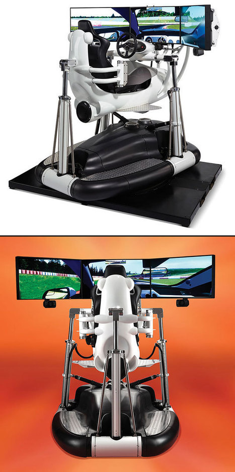 The Most Realistic Racing Simulator Rotates 360-Degrees at Up to 0.5 Gs, Fits in Your Living Room | Heron | Scoop.it