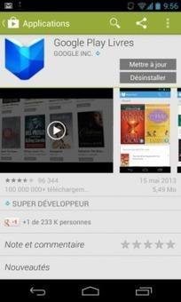 Google Play Livres sait lire les EPUB et PDF   Livres   Scoop.it