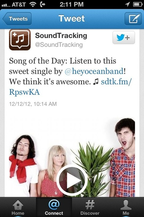 Soundtracking Fans Can Share AND Play Music In Twitter - AllTwitter | Digital-News on Scoop.it today | Scoop.it