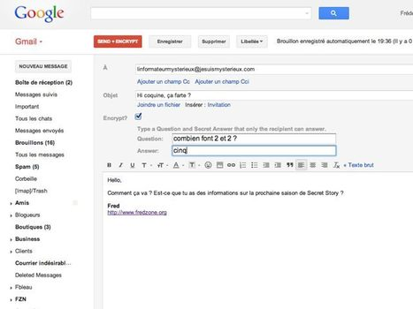 Chiffrer ses messages Gmail avec SafeMail | Time to Learn | Scoop.it