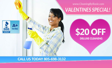 Valentine's Deal: Santa Barbara House Cleaning | Santa Barbara House Cleaning Services - Cleaning By Rosie Call 805-698-3132 | Home Maintenance | Scoop.it