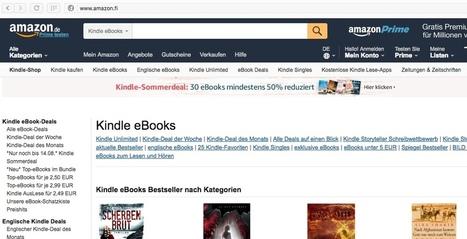 Verkkokauppa Amazonin tulo Suomeen varmistui | Klaava | E-kirjat | Scoop.it