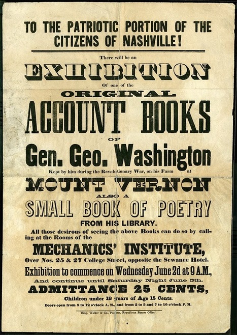 George Washington's Ledger Book   Tennessee Libraries   Scoop.it