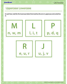 Uppercase Lowercase – Printable Preschool Letters Worksheet – JumpStart | Educational Resources for Kids | Scoop.it