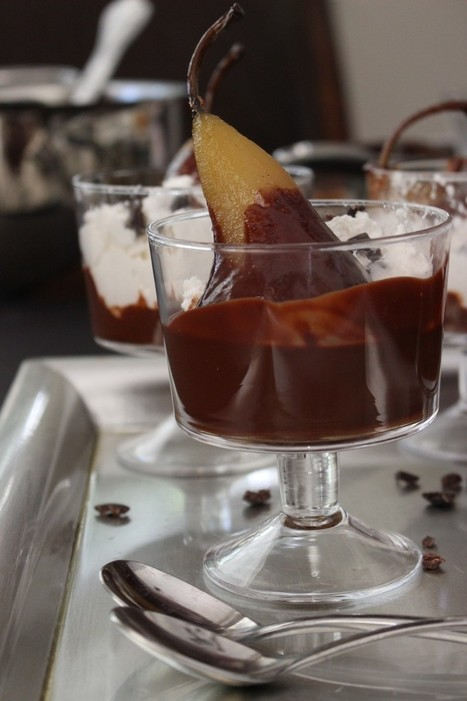 Poached Pears recipe with Chocolate Ganache - Vegan | Candy Buffet Weddings, Events, Food Station Buffets and Tea Parties | Scoop.it