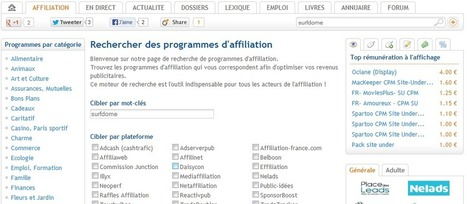 Club Affiliation : Mode d'emploi ! | Comparer les programmes d'affiliation | Scoop.it