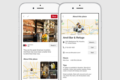 Pinterest's Place Pins now display Google Map directions, business info, and reviews | SOCIAL MEDIA | Scoop.it