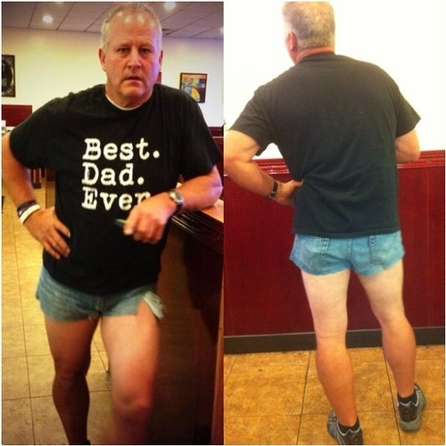 If You Ever Had a Teenage Daughter Who Liked Skimpy Shorts, What This Dad Did Could Make Him Your Hero