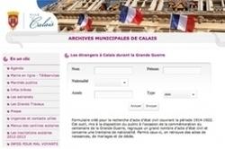 1914-1922 : Calais lance une base de données des étrangers | GenealoNet | Scoop.it