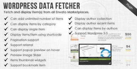 CodeCanyon – WordPress Data Fetcher – WP Plugin v.2.5.1 - Daily Nulled | Daily Nulled WordPress Themes & Plugins | Scoop.it