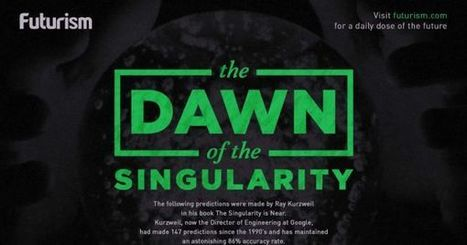 The Dawn of the Singularity: A Visual Timeline of Ray Kurzweil's Predictions - Futurism | The Asymptotic Leap | Scoop.it