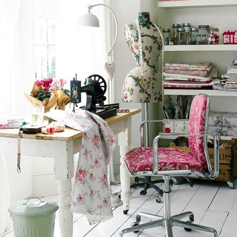 Craft corner home office | Shabby chic | Scoop.it