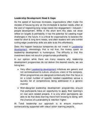 Leadership Development: Need & Gaps | Leadership training Mumbai | Scoop.it