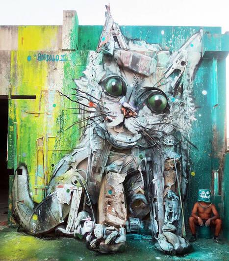 Big Trash Animals – Les dernières créations street art de Bordalo II | Inspiration et créativité | Scoop.it