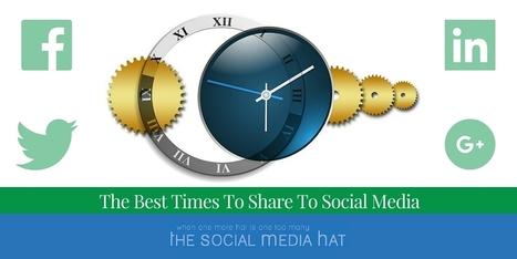 When Is The Best Time To Post On Social Media? | The Content Marketing Hat | Scoop.it