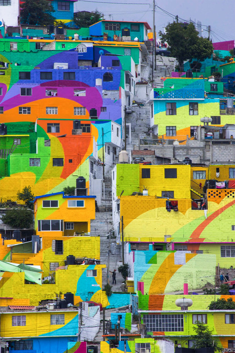 #StreetArtist Collaborate with #Mexican Government to Bring Vibrant Splash of #Colour to an Entire Neighborhood #art | Luby Art | Scoop.it