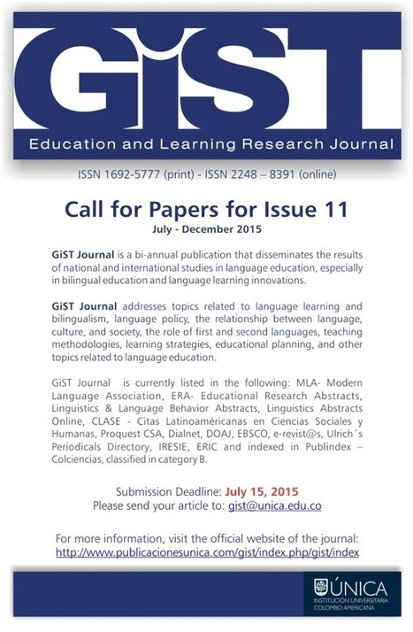 GiST Journal: studies in language education | TELT | Scoop.it