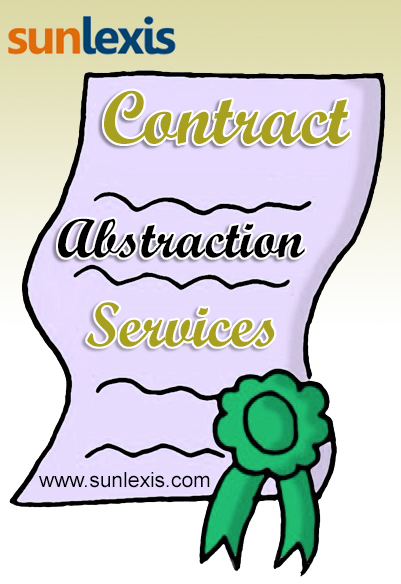 Contract Abstraction Services | Legal Services by Sunlexis.com | Scoop.it