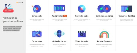 123apps – Aplicaciones gratuitas en línea para audio y vídeo | Uso educativo de TIC | Scoop.it