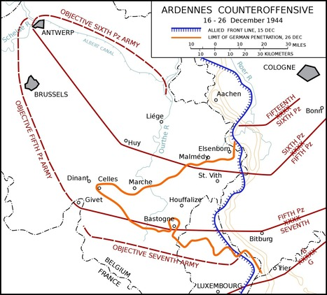 Atlas - Battle of the Bulge or Battle Of the Ardennes | History & Maps | Scoop.it