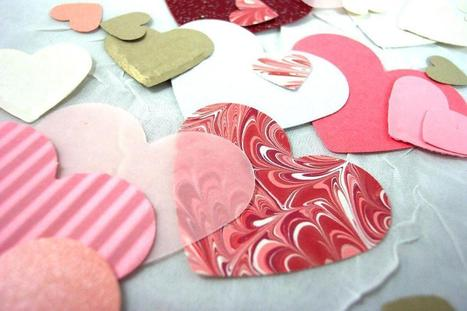 Hand Punched Hearts for Paper Craft | CUTE PAPER CRAFTS | Scoop.it