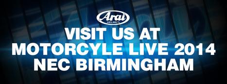 Arai at Motorcycle Live 2014 | Motorcycle Industry News | Scoop.it