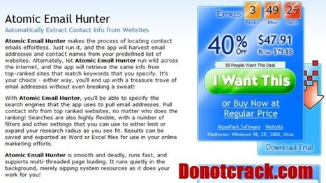 [Discount] Atomic Email Hunter 40% OFF   Free license for you   helping others to help themselves   Scoop.it