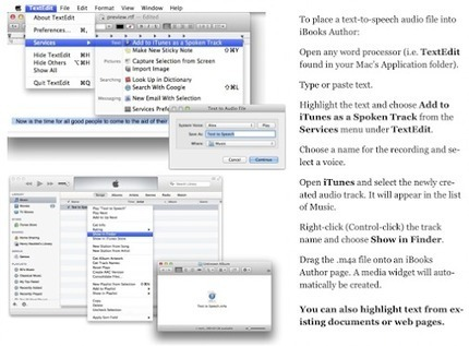 Creating a synthetic speech widget from any text for iBooks Author | Publishing with iBooks Author | Scoop.it
