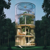 Amazing Tubular Glass House Built Around Tree | retail and design | Scoop.it