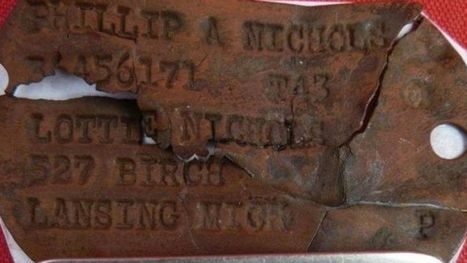 WWII dog tags found in Netherlands; Michigan family located - WZZM | Antiques & Vintage Collectibles | Scoop.it