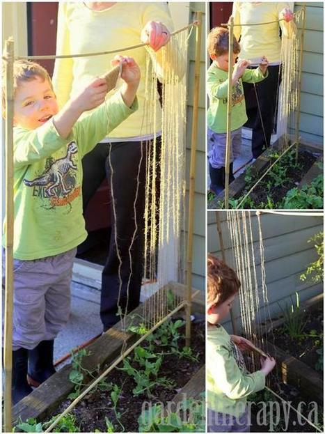 garden therapy » Making a Pea Trellis with Kids | Childs Play - Permaculture for Kids | Scoop.it