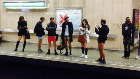 Le métro bruxellois enlève le bas: les photos (dé)culottées de la journée - RTBF Etcetera | Belgitude | Scoop.it