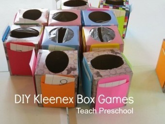 DIY Kleenex box (math) games | Teach Preschool | Scoop.it