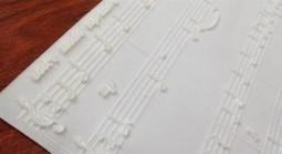 Partituras táctiles impresas en 3D para invidentes | FonoTecno | Scoop.it